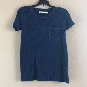 Madewell Hi-Line Blue Tee, Size Small